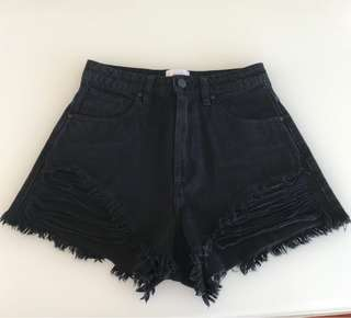 Black Abrand high waist relaxed shorts