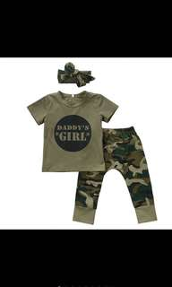 Baby Kids Girls Boys Army Camouflage Clothes Set [PO]