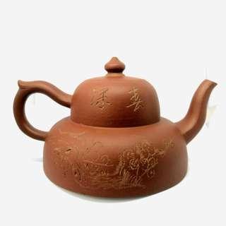 紫泥 曼生壺 Yixing Zisha Teapot