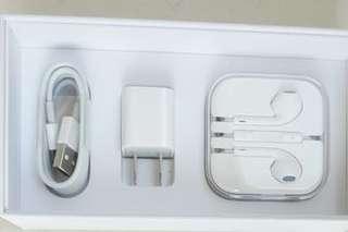 Iphone 原廠 充電線 豆腐頭 3.5 mm 耳機 Original LightingCharger Earpods