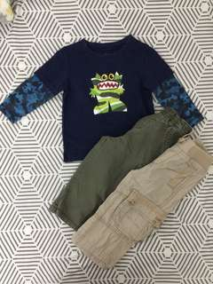 🍁Take all George baby sweater, Old navy & Childrens Place cargo pants