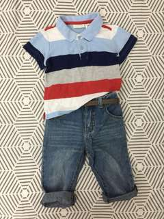 🍁Set First Impression play poloshirt & jeans