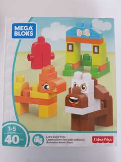 Mega Bloks let's build pets 40pcs
