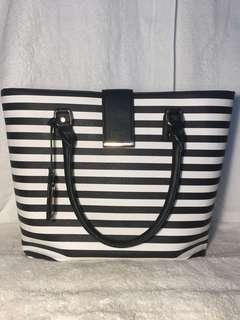 Black and white Aldo tote bag
