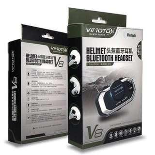 🚚 維邁通V8頭盔防水藍芽耳機 (支援前後對講功能、對講機對講、導航機) 重機車安全帽專用機車精品