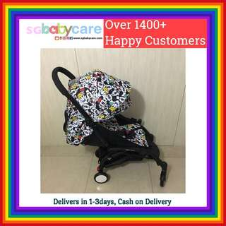 (Pending) FREE DELIVERY Recline Compact Travel Stroller - Disney