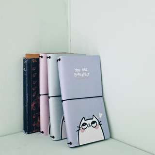 Cat Pun Leather Travelers Notebook