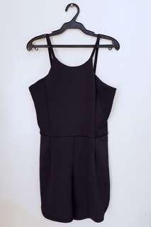 Black Jumpsuit Short