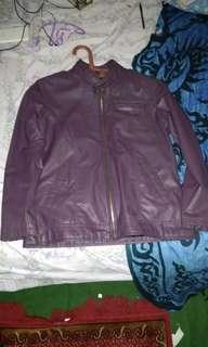Jaket kulit asli model simpel