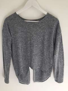Glassons - Grey open back top - Size M