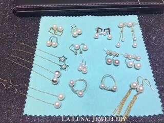 小清新feel🌿天然淡水海水珍珠Akyo18k金耳環✨防敏感全新首飾珠寶