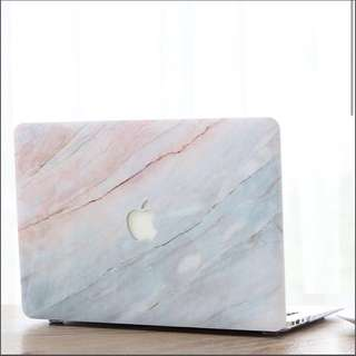 Marble print macbook case