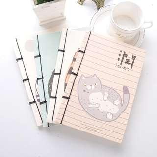 Chubby Cat Plain Notebook
