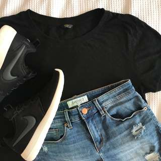 FACTORIE plain black tee