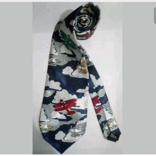 MA128 Airplane Themed Necktie by Thinking of You Ties