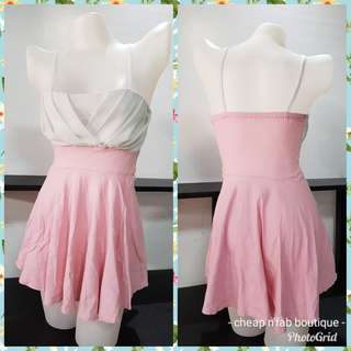 Pink body fit dress