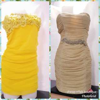 Yellow elegant dresses