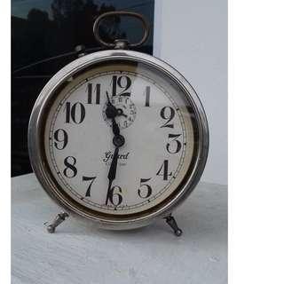 """ RARE "" EARLY 1900's 8 DAYS USA INGRAHAM GUARD ALARM CLOCK"