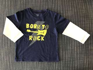 Carter's Born To Rock Long Sleeved Tee (24m)
