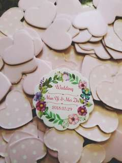 Personalised gift tag & wedding favour