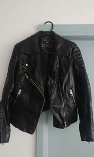 H&M ladies leather look jacket