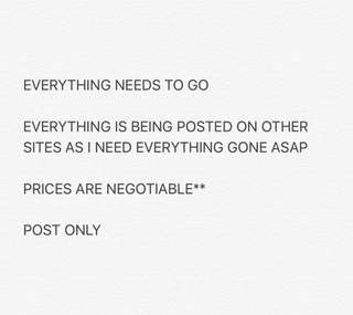 everything needs to go