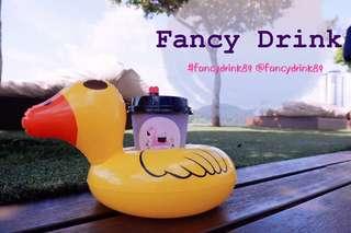 Autumn ducky float - drink holder