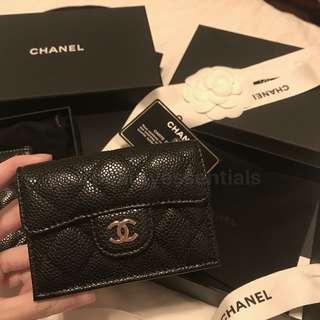 Chanel classic 三摺細銀包 超實用mini wallet❤️