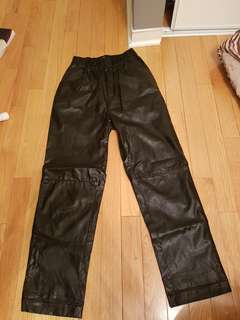 Women's Cheap Monday pleather trackpants size XS