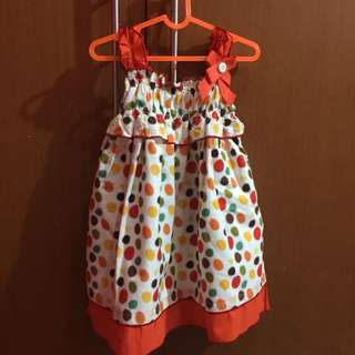 Dress Polkadot Orange