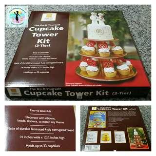 Cake & Cupcake Tower Kit (3-tier, white)