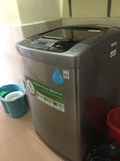 LG 10kg top load washing machine for sale