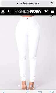 White High Waisted Fashion Nova Jeans