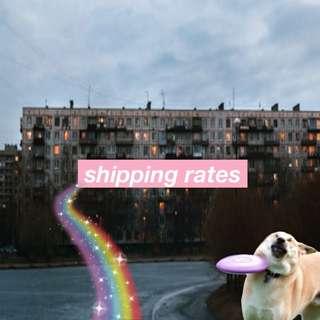 ♡ shipping rates ♡