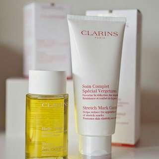 Clarins Stretch Mark 200ml and Clarins Huile Oil 100ml (Pregnancy Package)
