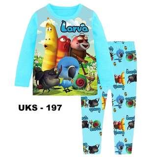 Larva Long Sleeve Pyjamas For (2 Yrs To 7 Yrs)