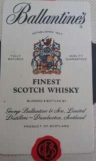 罕有 古 老蘇格蘭 威士忌 全 新招紙