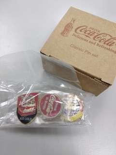 Coca Cola Coke 可口可樂襟章(一套三個)