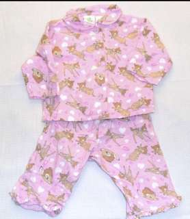 Charity Sale! Authentic Disney Baby Bambi Pajama Set Size 3-6 Months Baby Girl