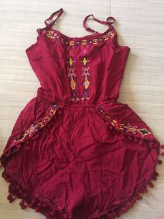 Preloved Maroon Romper