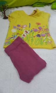 Mothercare tee and legging