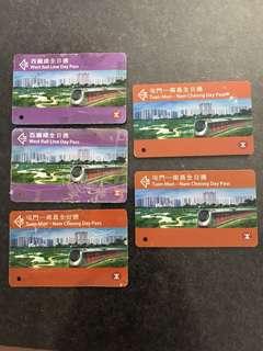 西鐵線全日通 珍藏 收藏 紀念 車票