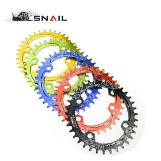 SNAIL 104 BCD 32T/34T Narrow Wide Oval Chainring (Ultralight) for Bicycles