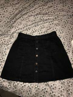 All about eve black mini skirt