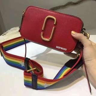 Marc Jacobs Snapshot Shocking Pink Multi Leather Camera Bag