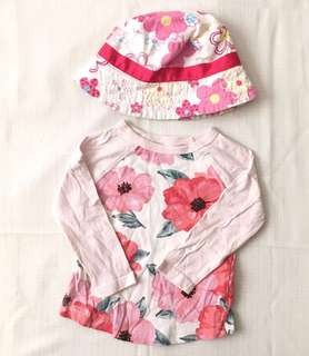 Charity Sale! Authentic Carter's Baby Clothes 6 Months Long Sleeve with Free Hat