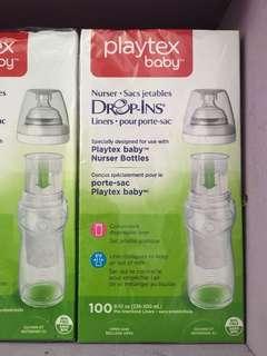 Playtex Drop-Ins Nurser Bottle Disposable Liners