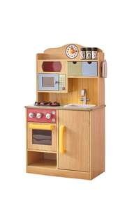 (PO) BN Little Chef Wooden Toy Play Kitchen with Accessories - Burlywood