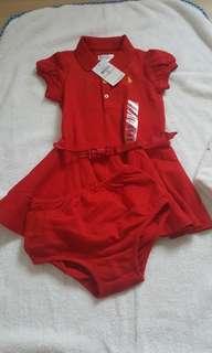 Ralph Lauren dress and bloomer
