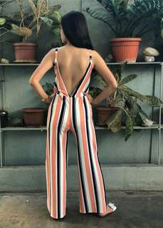 V-back Jumpsuit with slits